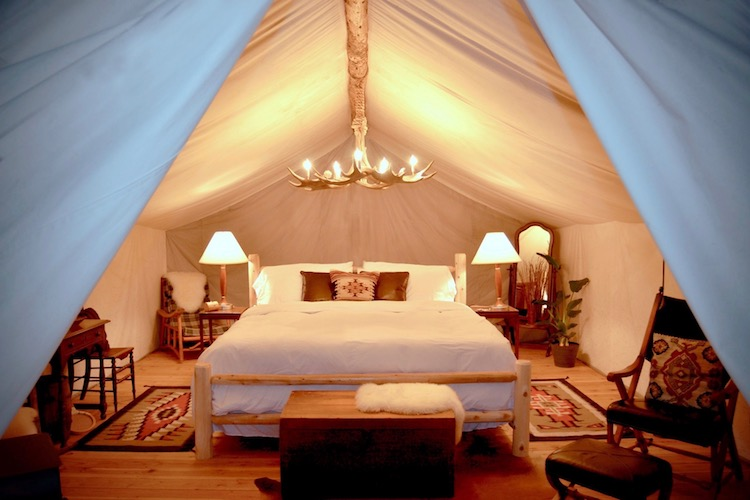 Luxury Glamping tent at The Collective, Yellowstone