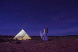Glamping tent at Shash Dine Eco-Retreat