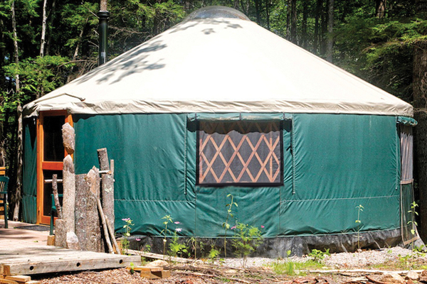 Forest yurt at Maine Forest Yurts