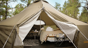 Luxury glamping tent at Arizona Luxury Expeditions