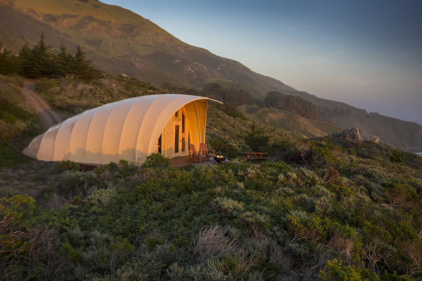 Luxury glamping at Treebones Resort, Autonomous Tent