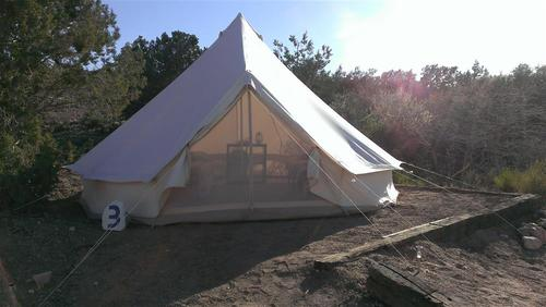 Glamping tent at Western Ranch, Grand Canyon, AZ
