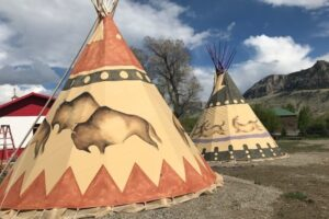 Tipi at Wheels of Wonderment, a great place to stay for your glamping vacation