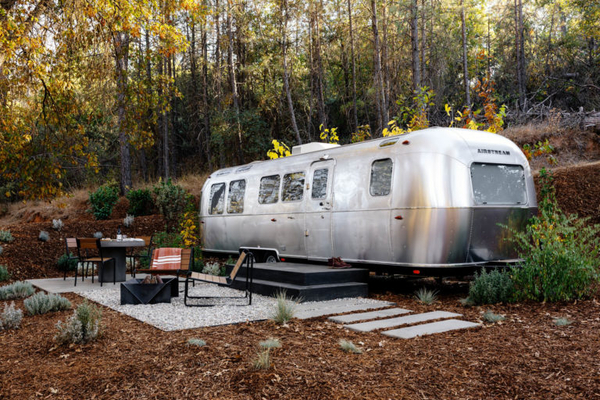 Airstream trailer at Autocamp, Yosemite