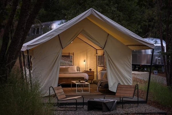 Glamping safari tent at Autocamp, Yosemite