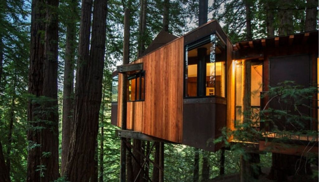Treehouse for glamping at Post Ranch Inn
