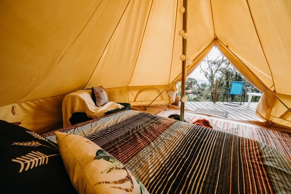 Luxury glamping tent at Zion View Camping