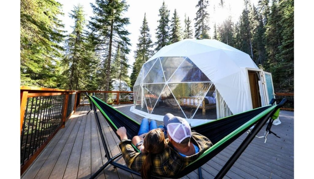 Luxury dome for glamping at Clear Sky Resort