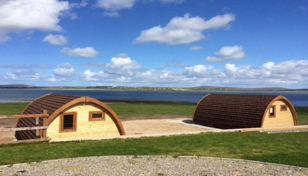 Belmullet Caost Guard Station glamping pods