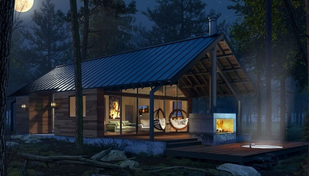 Glamping in the Light Haus at The Green O
