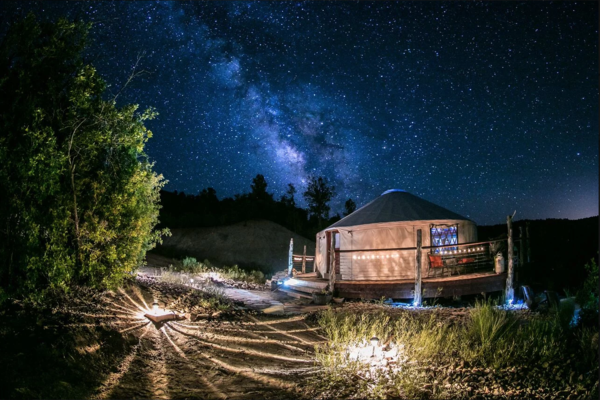 Luxury yurt at Zion Backcountry Glamping