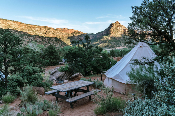 Bell tent at Zion Glamping Adventures