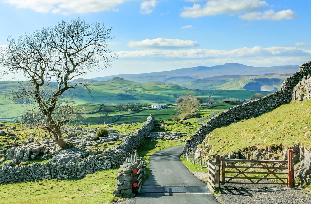 Yorkshire Dales are a popular destination for people on a glamping holiday