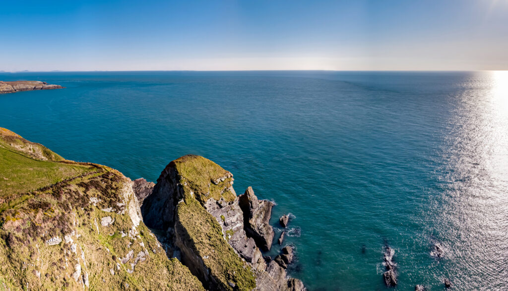 Cliffs near South Stack Lighthouse, Anglesey, Wales
