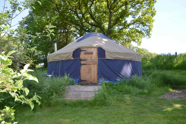 Yurt for glamping at The Orchard Retreat