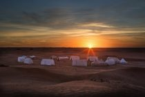 Camp Adounia tents